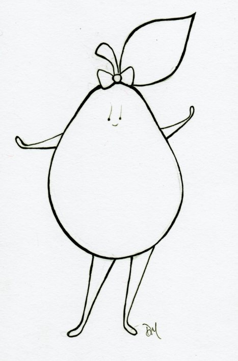 pear in bow