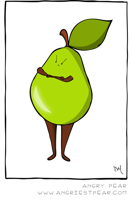 angry-pear-doesnt-like-mondays