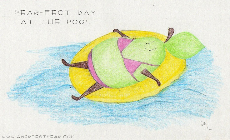 pearfect day at the pool