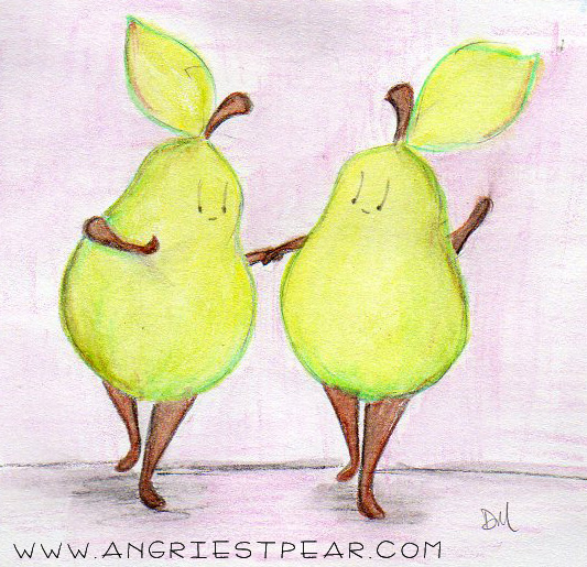 watercolor pear friends