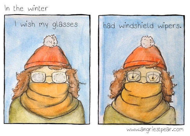 windshield wipers on glasses