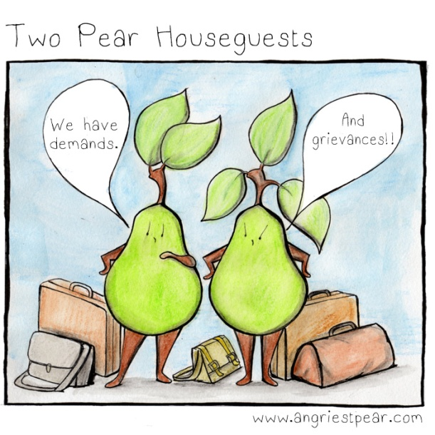 two pear houseguests