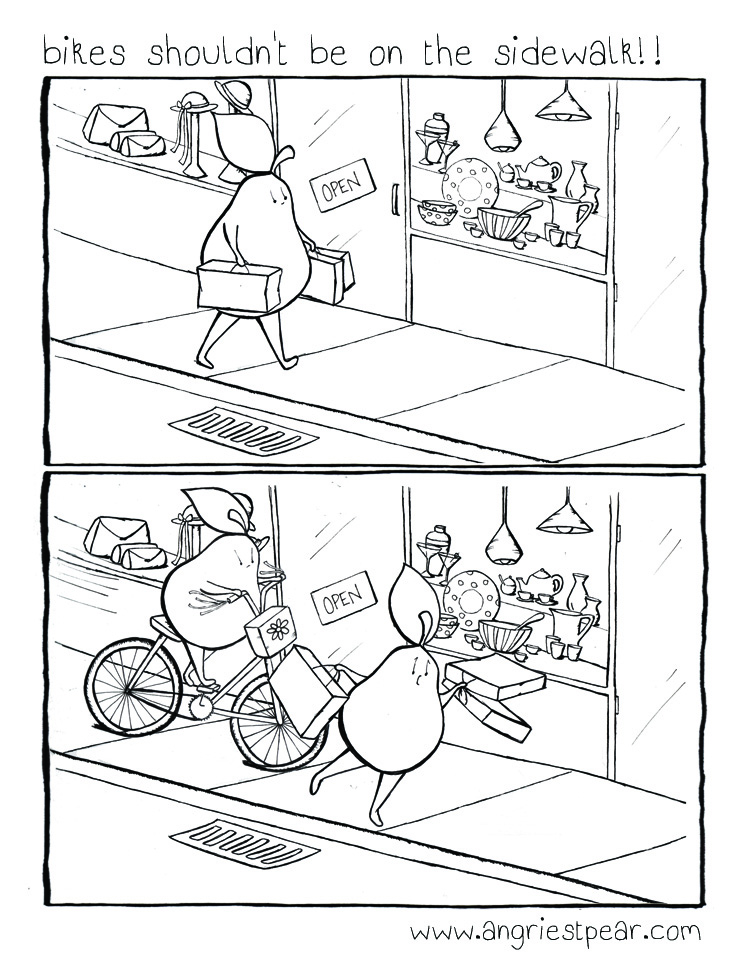 bikes off the sidewalk